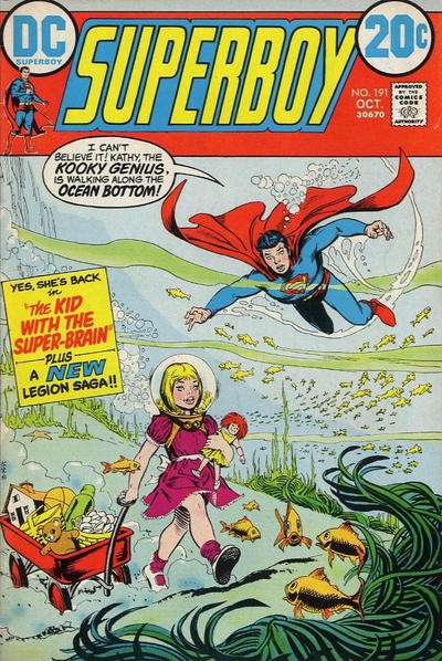 Superboy #191 Comic Books - Covers, Scans, Photos  in Superboy Comic Books - Covers, Scans, Gallery