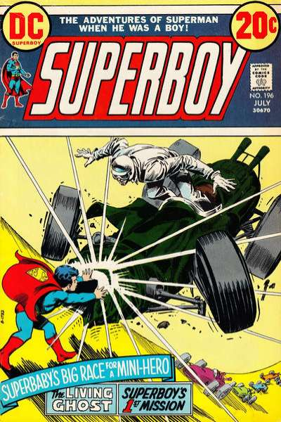 Superboy #196 comic books - cover scans photos Superboy #196 comic books - covers, picture gallery
