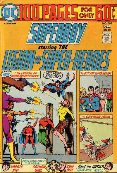 Superboy #205 comic books - cover scans photos Superboy #205 comic books - covers, picture gallery