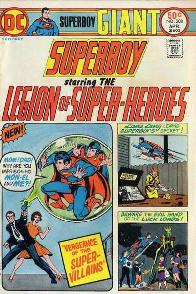 Superboy #208 comic books - cover scans photos Superboy #208 comic books - covers, picture gallery