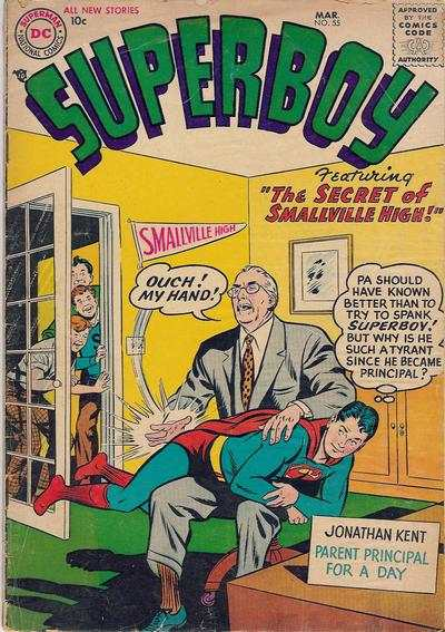 Superboy #55 Comic Books - Covers, Scans, Photos  in Superboy Comic Books - Covers, Scans, Gallery