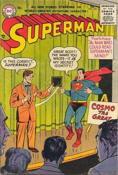 Superman #103 Comic Books - Covers, Scans, Photos  in Superman Comic Books - Covers, Scans, Gallery