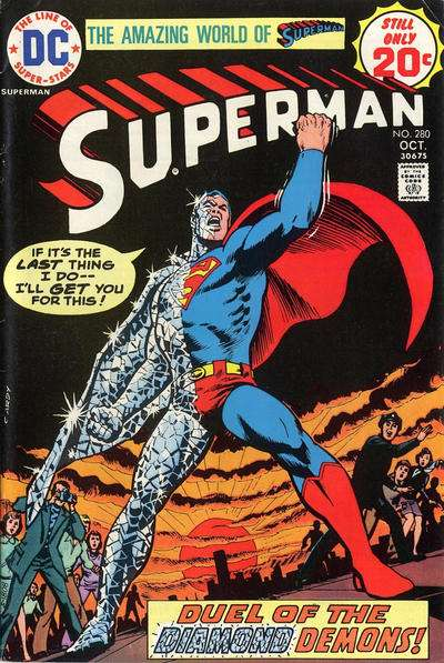 Superman #280 comic books - cover scans photos Superman #280 comic books - covers, picture gallery