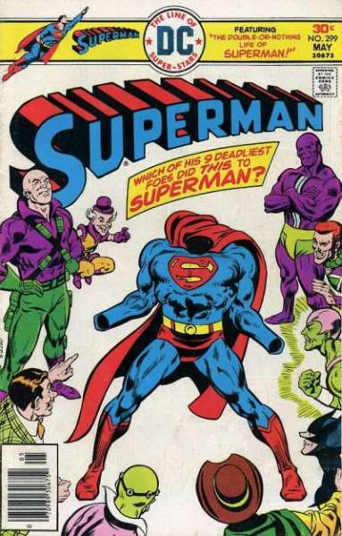 Superman #299 comic books - cover scans photos Superman #299 comic books - covers, picture gallery