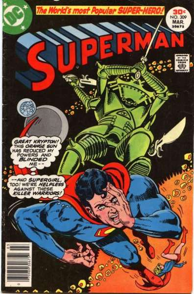 Superman #309 cheap bargain discounted comic books Superman #309 comic books