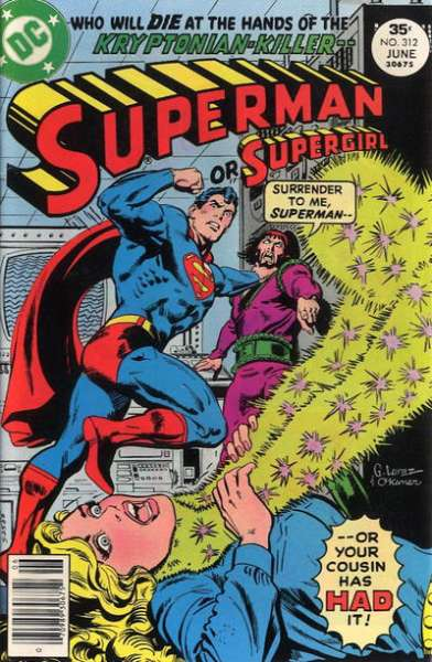 Superman #312 comic books - cover scans photos Superman #312 comic books - covers, picture gallery