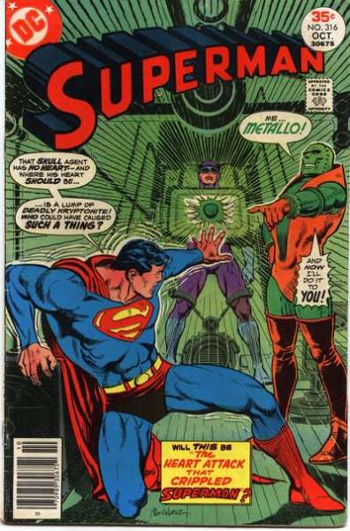 Superman #316 comic books - cover scans photos Superman #316 comic books - covers, picture gallery