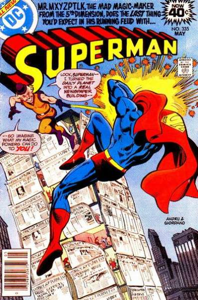 Superman #335 comic books - cover scans photos Superman #335 comic books - covers, picture gallery