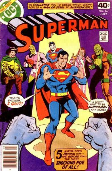 Superman #337 Comic Books - Covers, Scans, Photos  in Superman Comic Books - Covers, Scans, Gallery