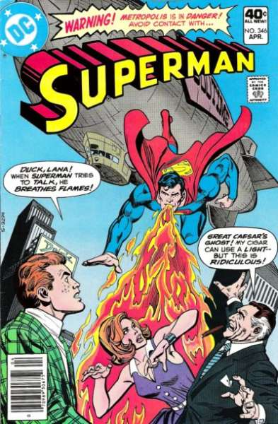 Superman #346 comic books - cover scans photos Superman #346 comic books - covers, picture gallery