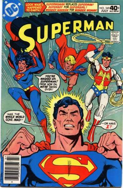 Superman #349 comic books - cover scans photos Superman #349 comic books - covers, picture gallery