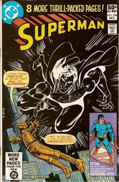 Superman #354 comic books - cover scans photos Superman #354 comic books - covers, picture gallery