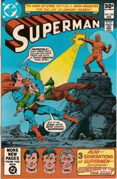 Superman #355 Comic Books - Covers, Scans, Photos  in Superman Comic Books - Covers, Scans, Gallery