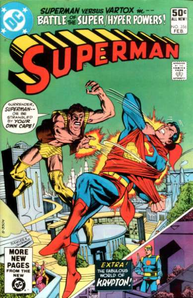 Superman #356 comic books - cover scans photos Superman #356 comic books - covers, picture gallery