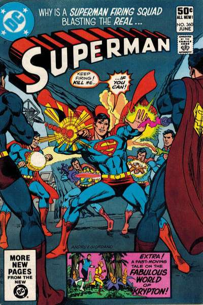 Superman #360 comic books - cover scans photos Superman #360 comic books - covers, picture gallery
