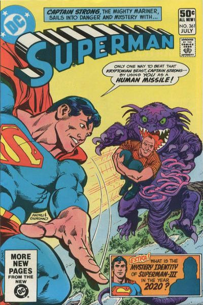 Superman #361 comic books - cover scans photos Superman #361 comic books - covers, picture gallery