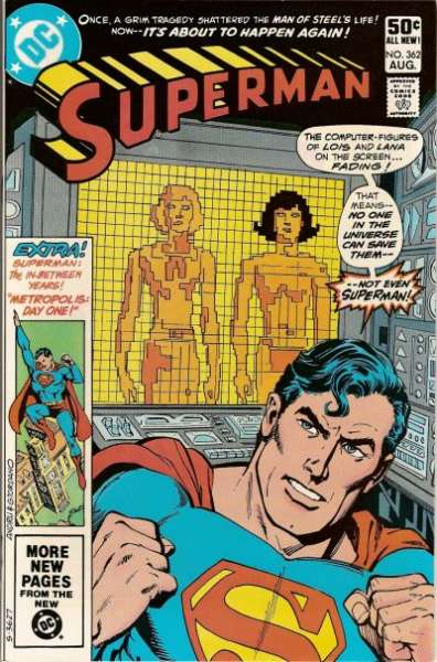 Superman #362 comic books - cover scans photos Superman #362 comic books - covers, picture gallery