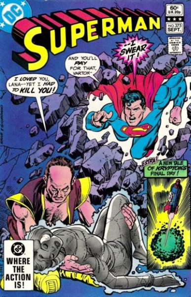 Superman #375 comic books - cover scans photos Superman #375 comic books - covers, picture gallery