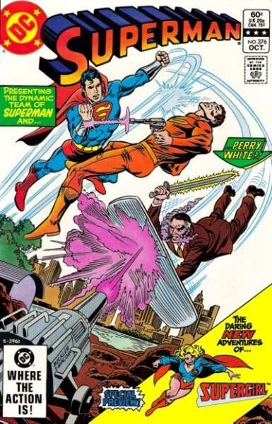 Superman #376 comic books - cover scans photos Superman #376 comic books - covers, picture gallery