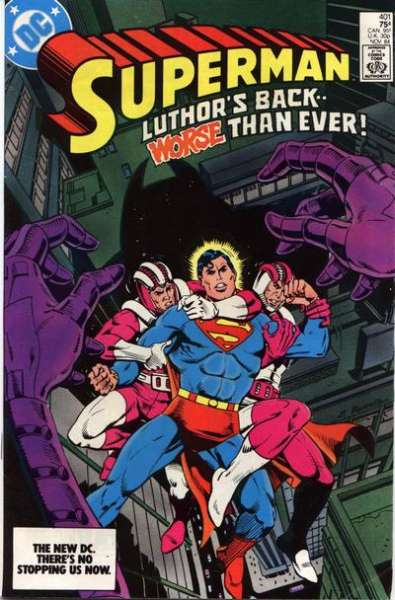 Superman #401 Comic Books - Covers, Scans, Photos  in Superman Comic Books - Covers, Scans, Gallery