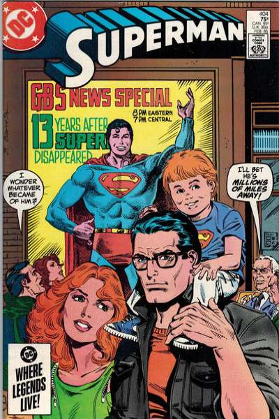 Superman #404 comic books - cover scans photos Superman #404 comic books - covers, picture gallery