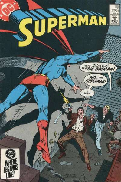 Superman #405 Comic Books - Covers, Scans, Photos  in Superman Comic Books - Covers, Scans, Gallery