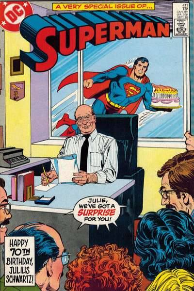 Superman #411 comic books - cover scans photos Superman #411 comic books - covers, picture gallery