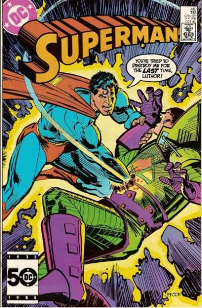 Superman #412 Comic Books - Covers, Scans, Photos  in Superman Comic Books - Covers, Scans, Gallery