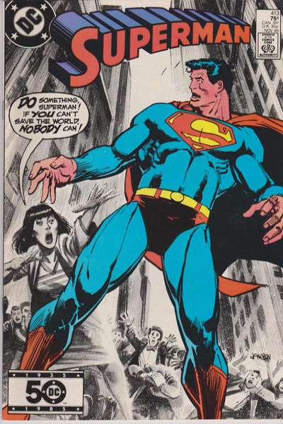 Superman #413 Comic Books - Covers, Scans, Photos  in Superman Comic Books - Covers, Scans, Gallery