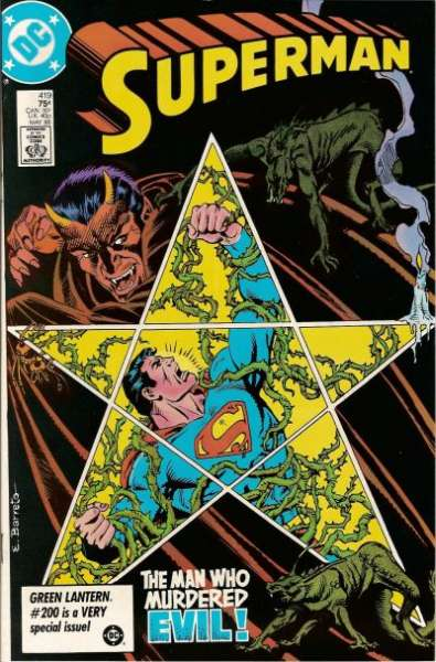Superman #419 comic books - cover scans photos Superman #419 comic books - covers, picture gallery