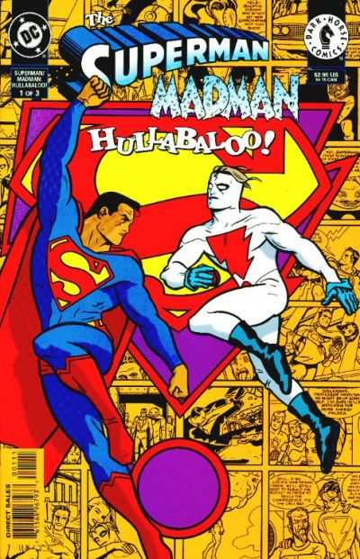 Superman/Madman Hullabaloo! #1 comic books - cover scans photos Superman/Madman Hullabaloo! #1 comic books - covers, picture gallery