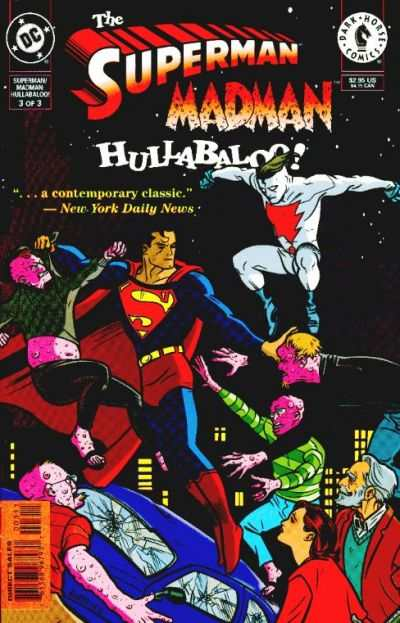 Superman/Madman Hullabaloo! #3 comic books - cover scans photos Superman/Madman Hullabaloo! #3 comic books - covers, picture gallery