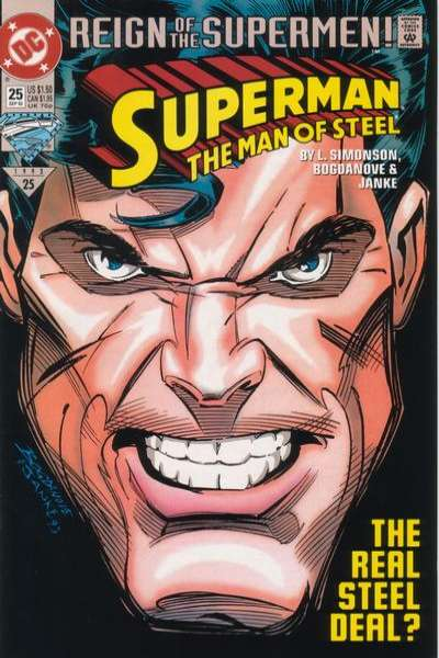 Superman: The Man of Steel #25 comic books - cover scans photos Superman: The Man of Steel #25 comic books - covers, picture gallery