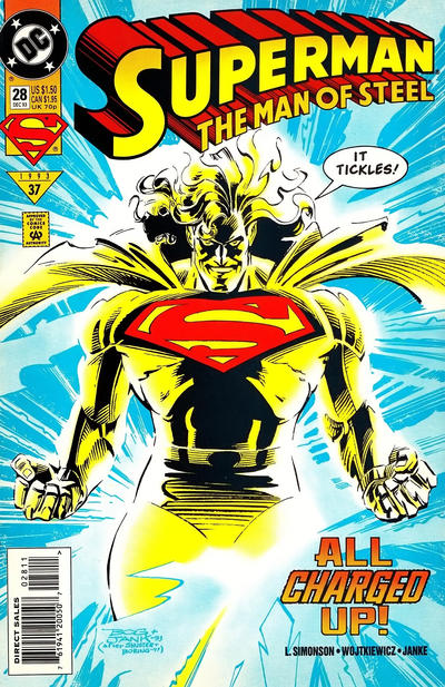 Superman: The Man of Steel #28 Comic Books - Covers, Scans, Photos  in Superman: The Man of Steel Comic Books - Covers, Scans, Gallery