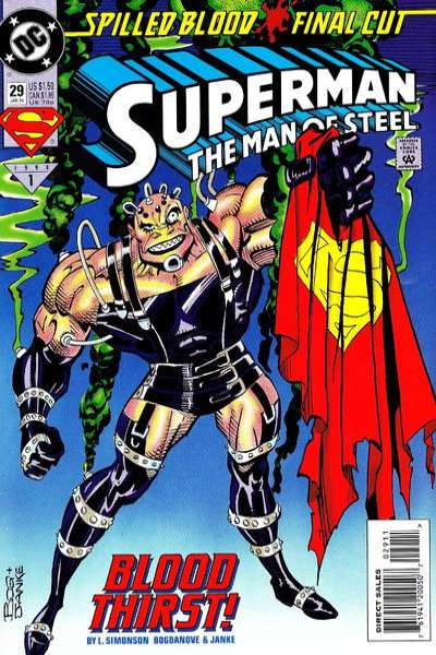 Superman: The Man of Steel #29 Comic Books - Covers, Scans, Photos  in Superman: The Man of Steel Comic Books - Covers, Scans, Gallery