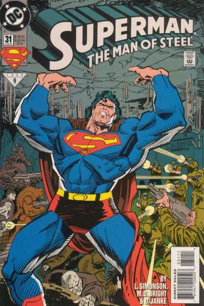 Superman: The Man of Steel #31 Comic Books - Covers, Scans, Photos  in Superman: The Man of Steel Comic Books - Covers, Scans, Gallery