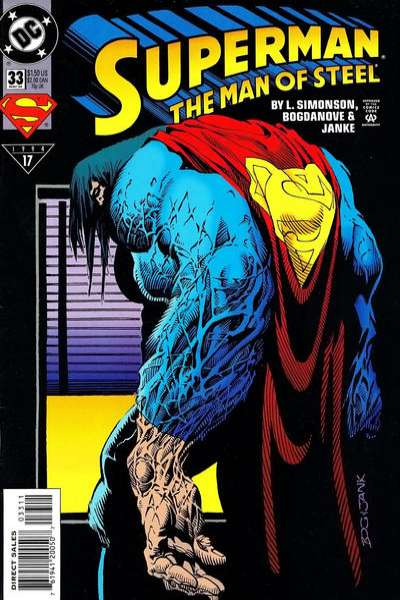 Superman: The Man of Steel #33 comic books - cover scans photos Superman: The Man of Steel #33 comic books - covers, picture gallery