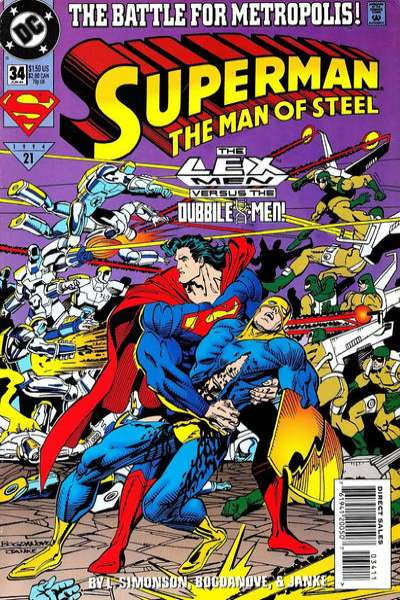 Superman: The Man of Steel #34 Comic Books - Covers, Scans, Photos  in Superman: The Man of Steel Comic Books - Covers, Scans, Gallery