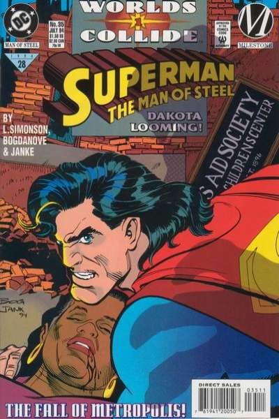 Superman: The Man of Steel #35 Comic Books - Covers, Scans, Photos  in Superman: The Man of Steel Comic Books - Covers, Scans, Gallery