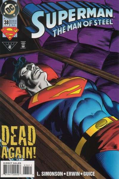 Superman: The Man of Steel #38 Comic Books - Covers, Scans, Photos  in Superman: The Man of Steel Comic Books - Covers, Scans, Gallery