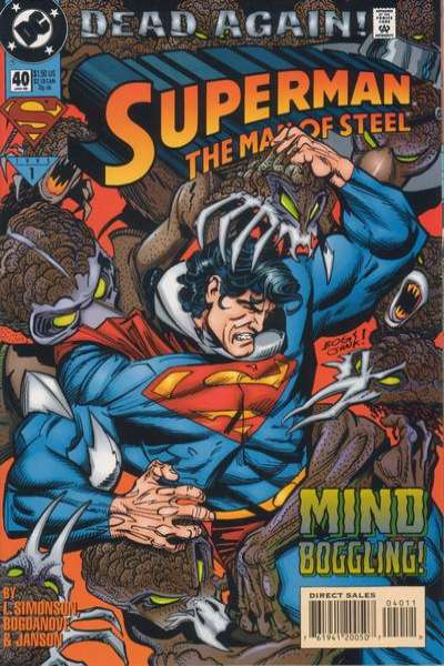 Superman: The Man of Steel #40 Comic Books - Covers, Scans, Photos  in Superman: The Man of Steel Comic Books - Covers, Scans, Gallery