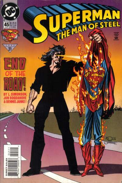 Superman: The Man of Steel #45 Comic Books - Covers, Scans, Photos  in Superman: The Man of Steel Comic Books - Covers, Scans, Gallery