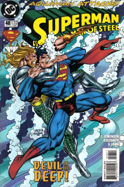 Superman: The Man of Steel #48 Comic Books - Covers, Scans, Photos  in Superman: The Man of Steel Comic Books - Covers, Scans, Gallery