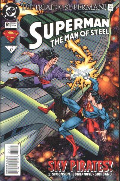 Superman: The Man of Steel #51 Comic Books - Covers, Scans, Photos  in Superman: The Man of Steel Comic Books - Covers, Scans, Gallery