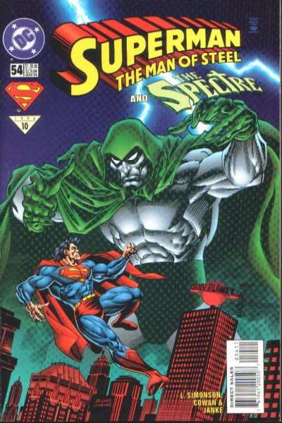 Superman: The Man of Steel #54 Comic Books - Covers, Scans, Photos  in Superman: The Man of Steel Comic Books - Covers, Scans, Gallery