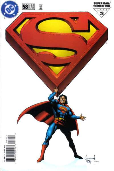 Superman: The Man of Steel #58 Comic Books - Covers, Scans, Photos  in Superman: The Man of Steel Comic Books - Covers, Scans, Gallery