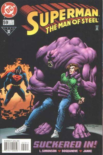 Superman: The Man of Steel #59 Comic Books - Covers, Scans, Photos  in Superman: The Man of Steel Comic Books - Covers, Scans, Gallery