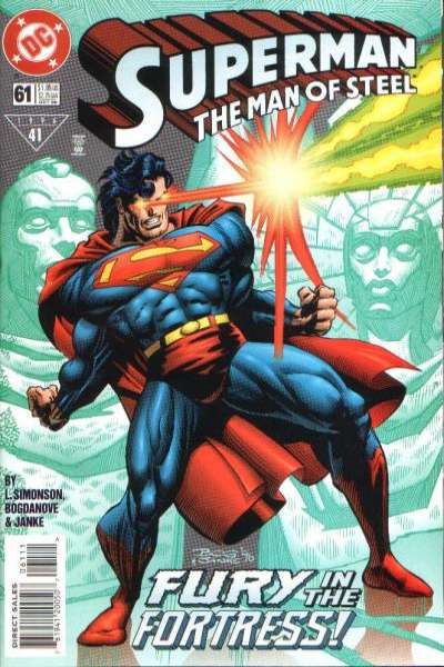Superman: The Man of Steel #61 comic books - cover scans photos Superman: The Man of Steel #61 comic books - covers, picture gallery
