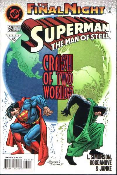 Superman: The Man of Steel #62 Comic Books - Covers, Scans, Photos  in Superman: The Man of Steel Comic Books - Covers, Scans, Gallery