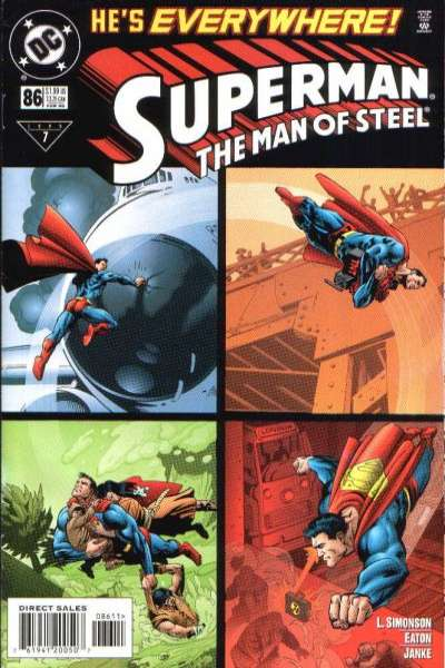 Superman: The Man of Steel #86 comic books - cover scans photos Superman: The Man of Steel #86 comic books - covers, picture gallery
